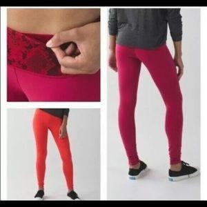 Lululemon size 4 Wunder Under Reversible leggings